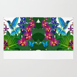 Tropical Hummingbird Pattern 1 Rug