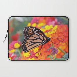 Monarch Feeding on Lantana Laptop Sleeve