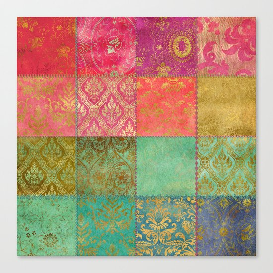 Royal Patchwork Canvas Print