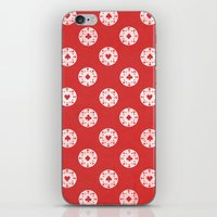 poker iPhone & iPod Skins featuring Poker Dots by Leo Canham
