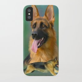 German Shepherd Breed Art iPhone Case
