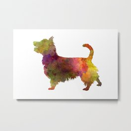 Australian Terrier in watercolor Metal Print
