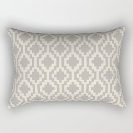 Mapuche Grey/Beige Rectangular Pillow