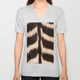 Zebra - zebra stripes -zebra skin - genuine - beautiful - #society6 #buyart Unisex V-Neck