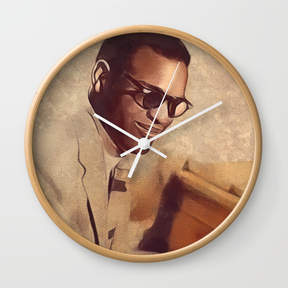 Ray Charles, Music Legend Wall Clock by Esotericaartagency CLK8954707