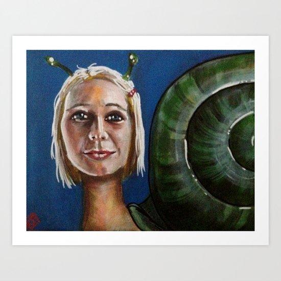 escMARGOT Margot Tenenbaum Art Print