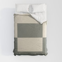 Green Buff Tan Minimal Square Design 2 2021 Color of the Year Contemplative Bleached Pebble Comforters