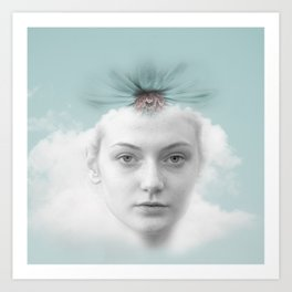 A girl who lived in a cloud Art Print