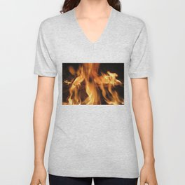 Fireplace Unisex V-Neck