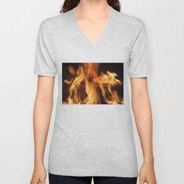 Fireplace Unisex V-Neck