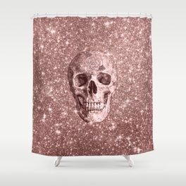 Modern sparkling Skull B Shower Curtain