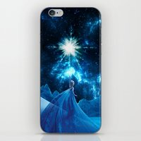 frozen elsa iPhone & iPod Skins featuring Frozen - Elsa by Thorin