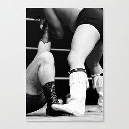 wrestling boots Canvas Print