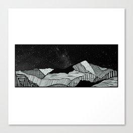 Snowdon Mountain Drawing Canvas Print