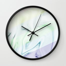 Colorful rainbow marble pattern Wall Clock