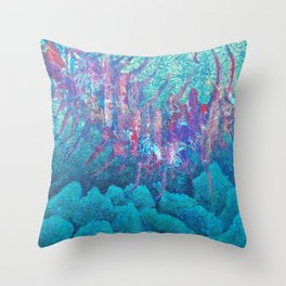 Colourful Life underwater Throw Pillow
