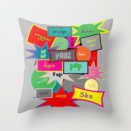 What Are You Listening To? Throw Pillow