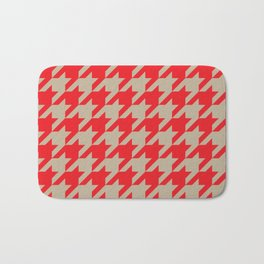 Houndstooth (Brown and Red) Bath Mat