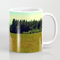hiking Mugs featuring Hiking on a hot afternoon by Patrick Jobst