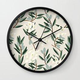 OLIVE BLOOM Wall Clock