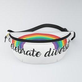 Celebrate diversity. Rainbow Gay Design Fanny Pack