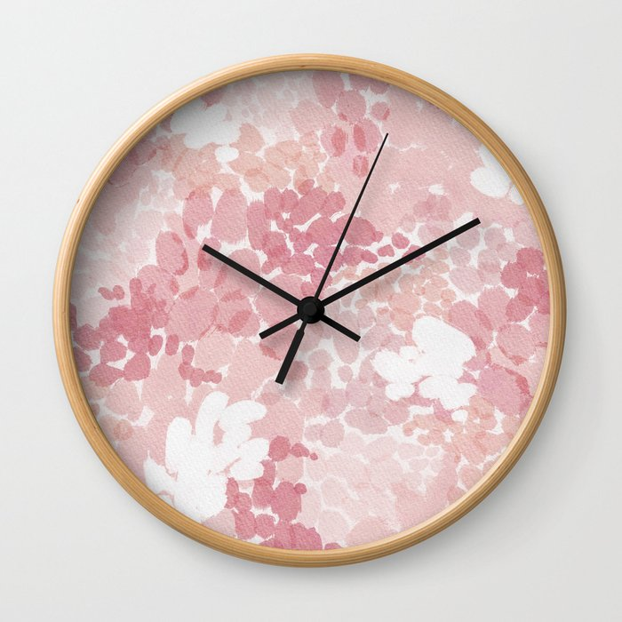 Blushing Petals Wall Clock