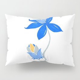 Abstract blue flower Pillow Sham