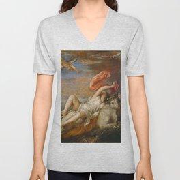 """Titian (Tiziano Vecelli) """"The abduction of Europa"""", 1562 Unisex V-Neck"""