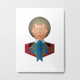 The 6th Doctor Who Metal Print