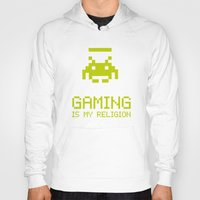 religion Hoodies featuring Gaming is my religion by Lily's Factory