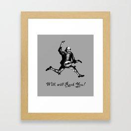 Will will Rock You! - Shakespeare Rocks Framed Art Print