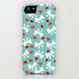 Lace gift wrap aqua iPhone Case
