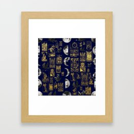 beautiful pagan themed tarot print Framed Art Print