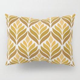 Yellow Retro Flower Pattern Pillow Sham