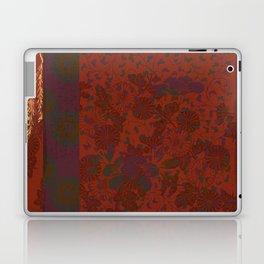 Caravans II:  Asian Print  Plum, gold, orange green origami textile floral design Laptop & iPad Skin