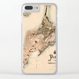 Map Of Macau 1899 Clear iPhone Case