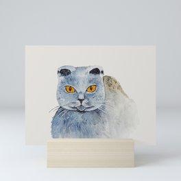 Scottish fold Mini Art Print