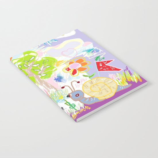 My Happy World Doodle For Children Room Nursery Home Decor Notebook
