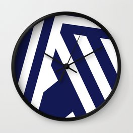 Nautical Stripes Wall Clock