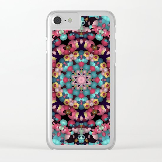 Spheres and Bubbles Mandala Clear iPhone Case