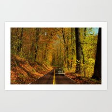 Down the Road Art Print