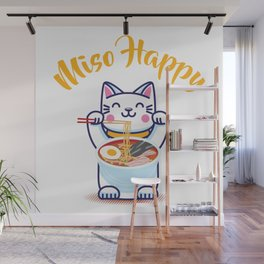 Miso Happy Funny Japanese Anime Cat Manga Gift Wall Mural
