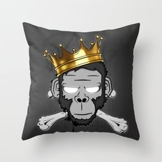 The Voodoo King Throw Pillow