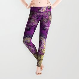 Dragon spirals and orbs in pink, purple and yellow Leggings