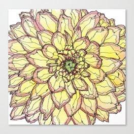 Yellow Flower Love Canvas Print