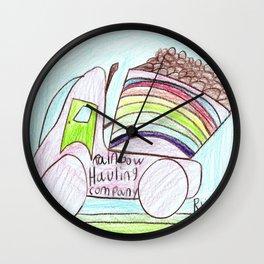 Rainbow Hauling Company Wall Clock