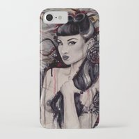 pinup iPhone & iPod Cases featuring pinup by Andreea Red