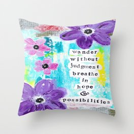 WANDER WITHOUT JUDGEMENT Throw Pillow