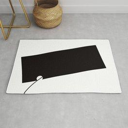 Black and White Element III Rug