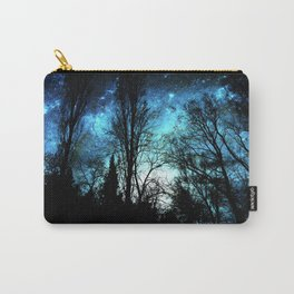 Black Trees Deep Teal SPACE Carry-All Pouch